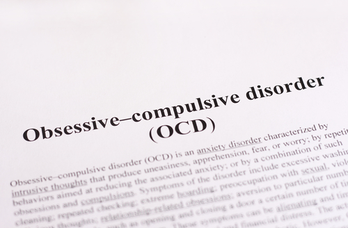 OCD treatment text on a page.